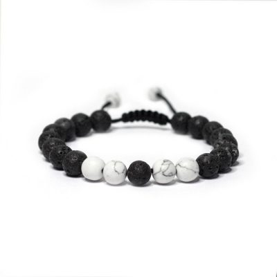 adjustable-white-howlite-lava-stone-bracelet