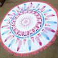 boho-feathers-roundie-beach-blanket-fringe