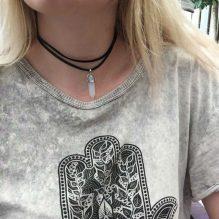 Boho Natural Crystal Stone Pendant Necklace