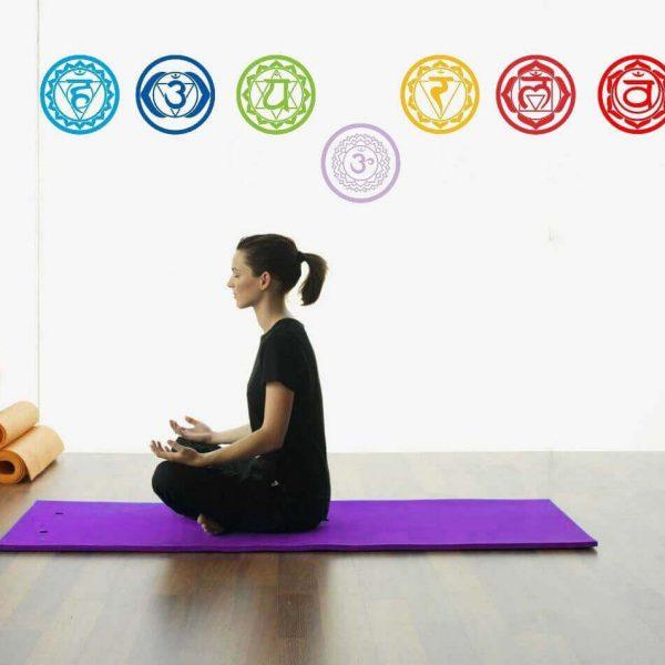 chakras symbol yoga wall decals image