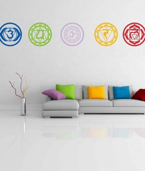 chakras yoga wall decals vinyl stickers