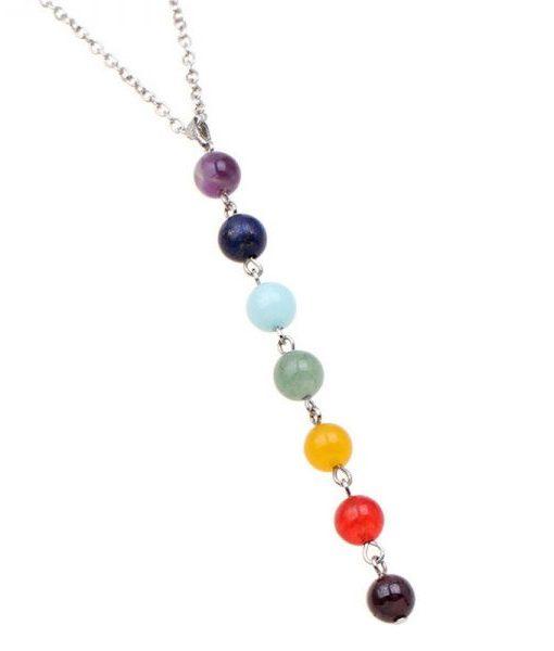 7 Chakra Gem Stone Beads Healing yoga Necklace