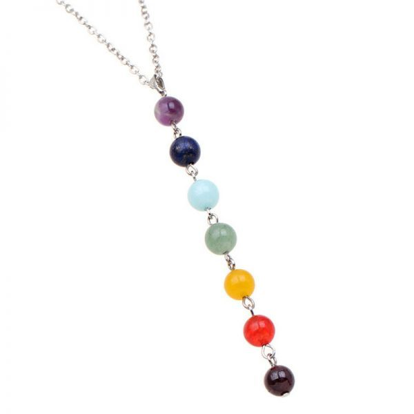 7 Chakra Gem Stone Beads Healing yoga Necklace