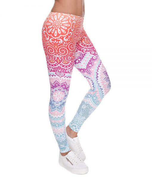 Slim Printed Leggings Aztec Mandala Leggings