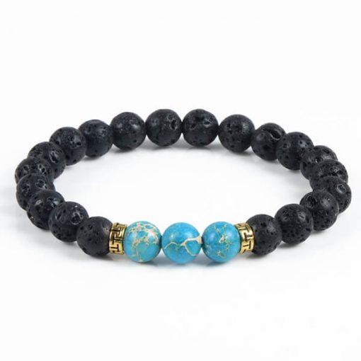 Turquoise Lava Stone Diffuser Bracelet