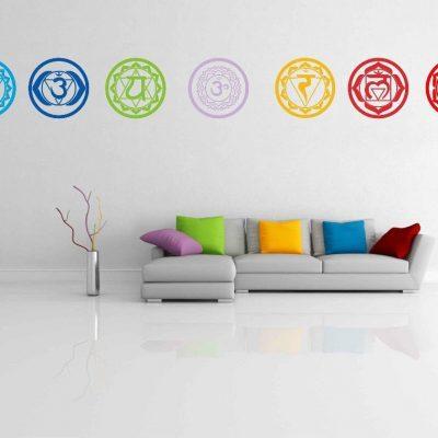 Vinyl Stickers Chakras Symbol Yoga Wall Decals room