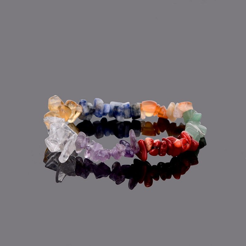 Healing 7 Chakras Natural Crystals Stone Bracelet For Women