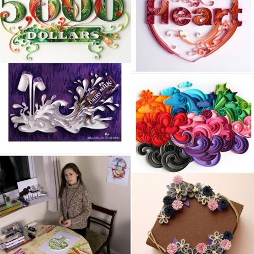 Colorful Quilling Paper image