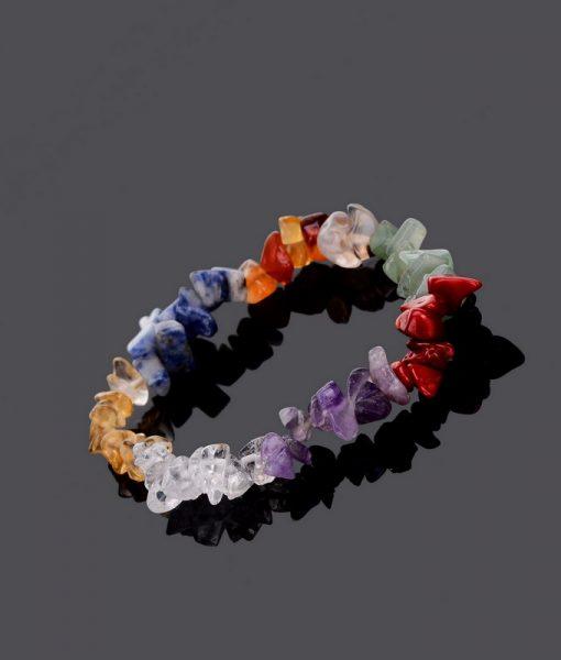 Healing 7 Chakras Natural Crystals Stone Bracelet image
