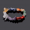 Healing 7 Chakras Natural Crystals Stone Bracelet photo