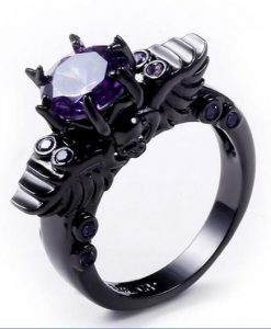 amethyst skull ring photo image cover