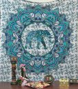 blue elephant mandala tapestry