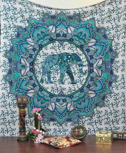 goddess mandala throw blue photo