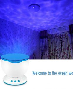 Relaxing Ocean Waves Night Light Ceiling Projector photo image cover