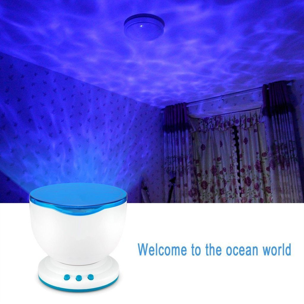 Ocean waves night light ceiling projector the yoga mandala store mozeypictures