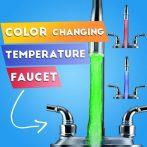 Temperature Sensor Faucet Light