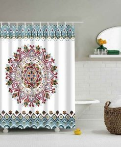 cheap-medallion-print-mandala-shower-curtain