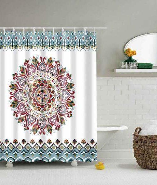 cheap-medallion-print-mandala-shower-curtain