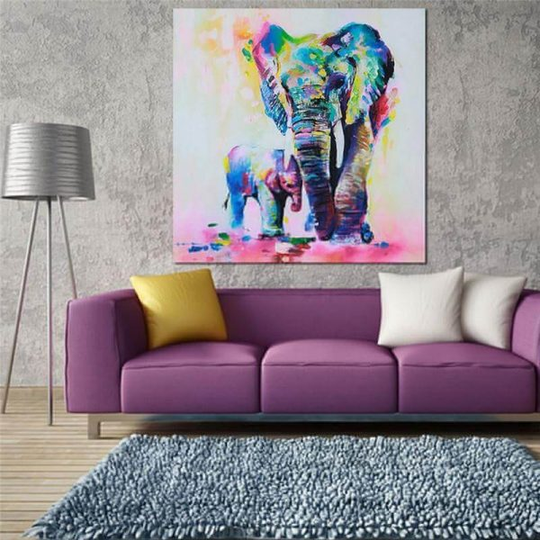 elephant oil canvas