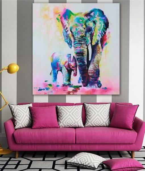 limited edition elephant oil canvas