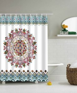 colorful mandala shower curtain image cover