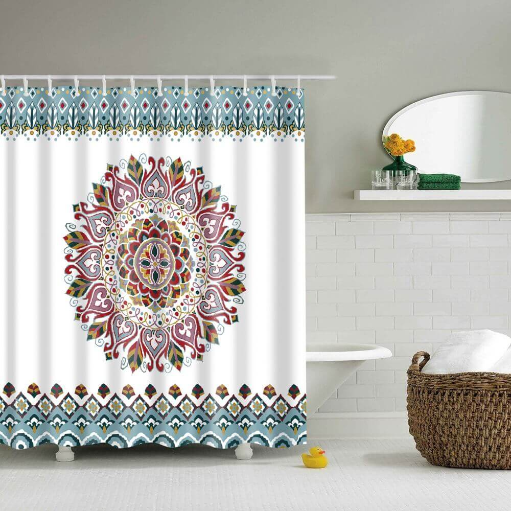 Medallion Print Mandala Shower Curtain