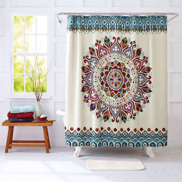 Medallion Mandala Shower Curtain The Yoga Mandala Shop