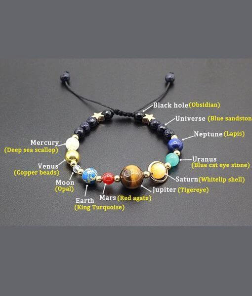 solar system astronomy bracelet