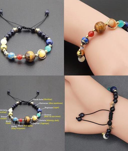 solar system beads bracelet