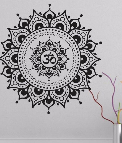 Mandala Lotus Flower Wall Decal Vinyl Art Sticker