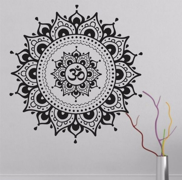 Mandala Lotus Flower Wall Decal Vinyl Art Sticker