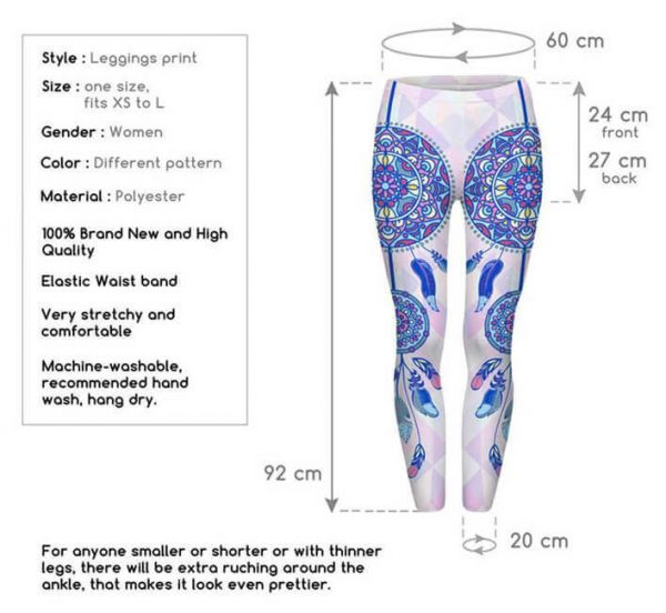 dream catcher mandala leggings size