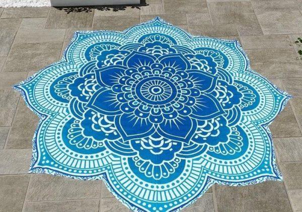 mandala lotus flower tapestry image