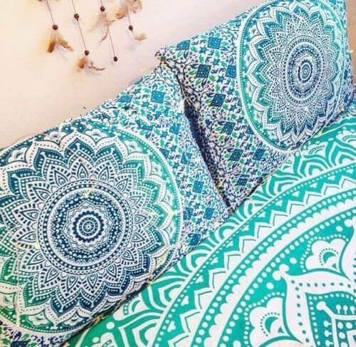 Blue Mandala Pillow Covers | Mandala Pillow Cases