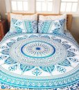 blue Queen Ahimsa Mandala Bed Sets image