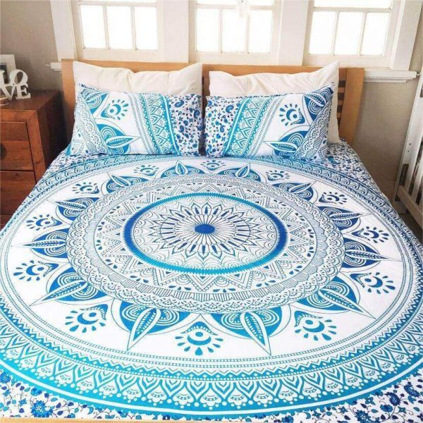 blue Queen Ahimsa Mandala Bed Sets image
