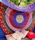 purple-plum-bow-medallion-hippie-wall-hanging