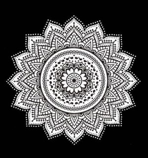 mandala black and white wall hangings
