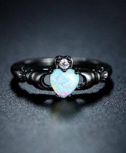 Fire Opal Heart Ring jewelry