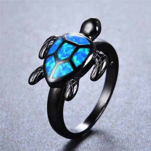 blue fire opal turtle ring image photo cover