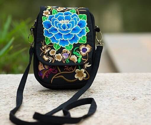 Boho Vintage Embroidered Mandala Tote Bags