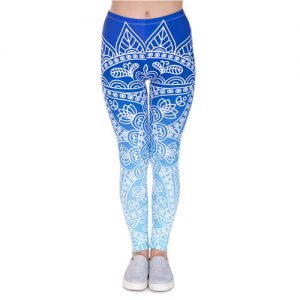 Mandala Blue Yoga Leggings