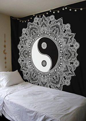 Mandala Yin Yang Tapestry