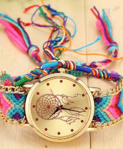 rainbow-braided-dreamcatcher-watch