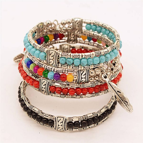 women-lucky-feather-bracelets