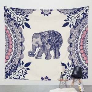 Floral Mandala Elephant Wall Decor