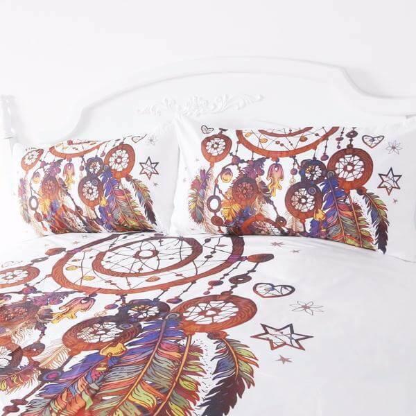 Feathers Dreamcatcher Bedding Set 3 Pcs The Yoga
