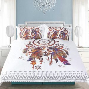 Feathers Dream catcher Bedding Set 3 Pieces