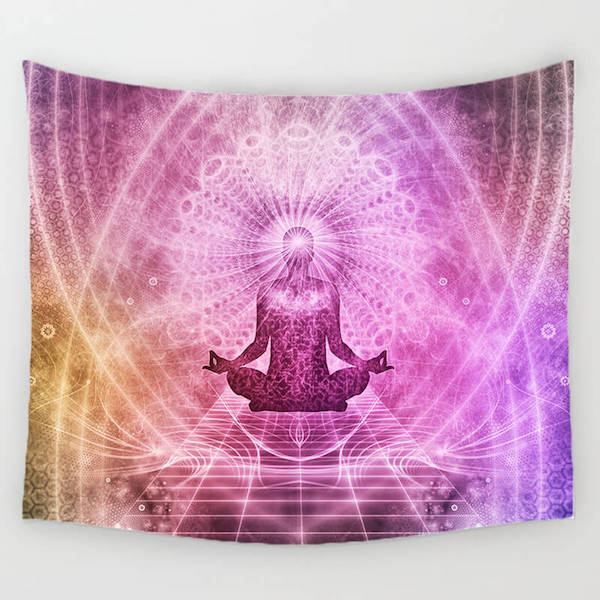Chakra Meditation Amp Yoga Tapestry The Yoga Mandala Shop