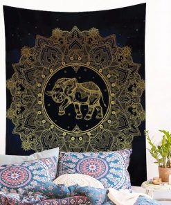 golden-printed-indian-elephant-wall-hanging